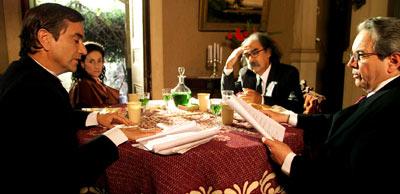 Francisco Reyes, amparo Noguera, Carlos Flores Delpino y Marcial Edwards en 'Días de campo', de Raúl Ruiz.